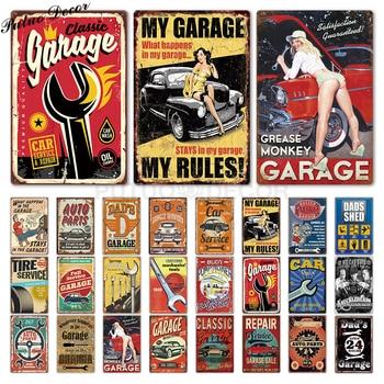 Garage Metal Sign Plaque Vintage DAD'S GARAGE  Sign Garage Car Repair Man Cave Metal Wall Art Decor