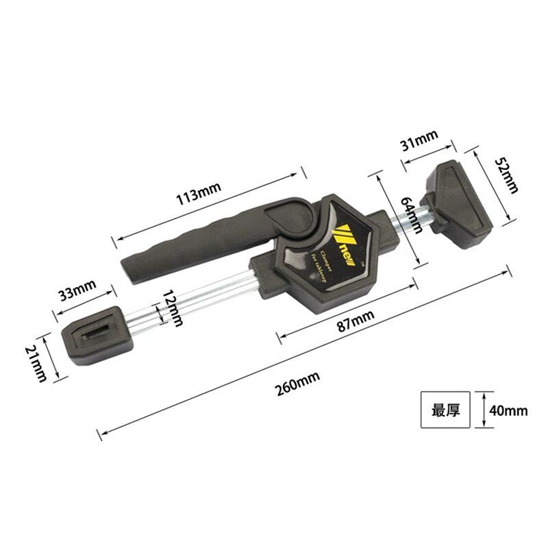 Hho-quick cliquet libération vitesse presser bois travail barre de travail pince Clip Kit épandeur Gadget outil bricolage main - 3