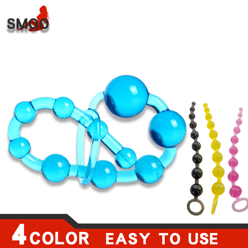 Smoo Anal Beads SexToysforWomenMen Gay Plug Play Pull Ring Ball Anal Stimulator Butt Beads G spot(China)