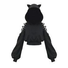 Cat Ear Hoodies Sweatshirt Women Gothic Harajuku Ho
