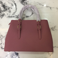 Hiboom New women ladies luxury bag cowhide fashion One-shoulder handabag pink to