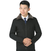 Men Winer Autumn Jackets Thick Warm Wool Fabric Liner Basic Coat Army Green Black Turn Down Collar Fleece Thicken Outerwear 2019