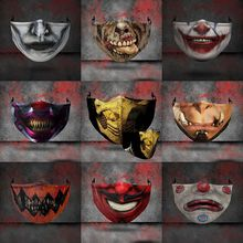 Masks Scorpion Kombat Mortal Ninja Cosplay Half-Face Washable Halloween Fun Adult Game