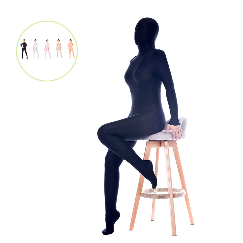 Woman In Sexy Seamless High Bounce Perspective Ice Silk All Inclusive Tights A Catsuit Sex Temptation Appeal Cosplay Clothing