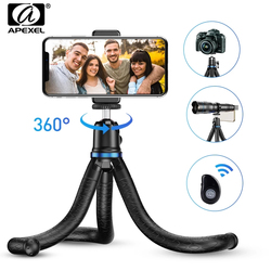 APEXEL Tripod Portable Flexible Octopus Extendable Stand 360 Rotation Vertical Shooting Phone Tripod JJ10 For Holder DSLR Gopro