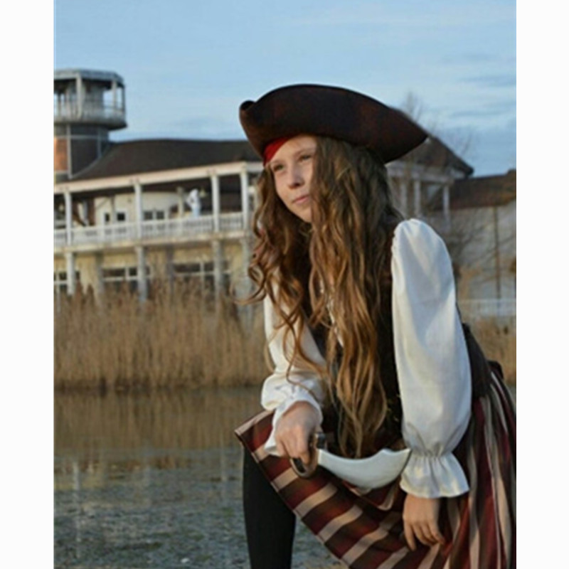 Image 4 - Birthday Party  Girls Elis Pirate Captain Cosplay Costume Halloween Carnival Party Dresscosplay costumecostume cosplaycosplay dress -