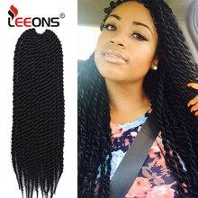 Leeons топ продаж 12 подставки Гавана Mambo твист крючком косы для наращивания волос Блонд Burgendy серый цвета синтетические волосы
