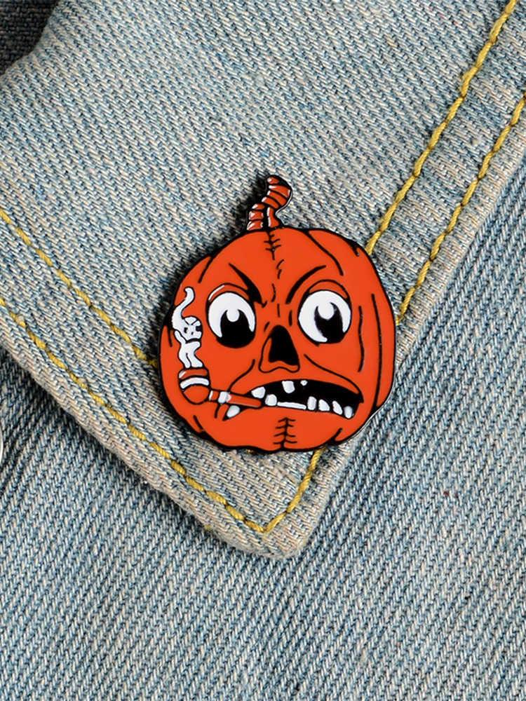 Halloween pin Del Fumetto Zucca smalto perni di Gotham clown fantasma della Strega badge spille Risvolto cappello sacchetto giacche pin Punk Dei Monili del regalo