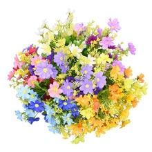 1Bouquet 28 Heads Daisy Artificial Flower Bouquet for Home Garden Decoration DIY Party Wedding Flowers Bridal Silk Fake Flower