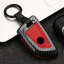 2019 mode ABS PC Carbon Fiber Silica Gel Auto Schlüssel Abdeckung Fall Für BMW X5 F15 X6 F16 G30 7 serie G11 X1 F48 F39 Hotcar keychain