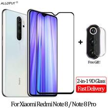 2-in-1 9D Camera Glass Redmi Note 8 Pro Screen Protector Protective Xiaomi redmi Full Cover Film