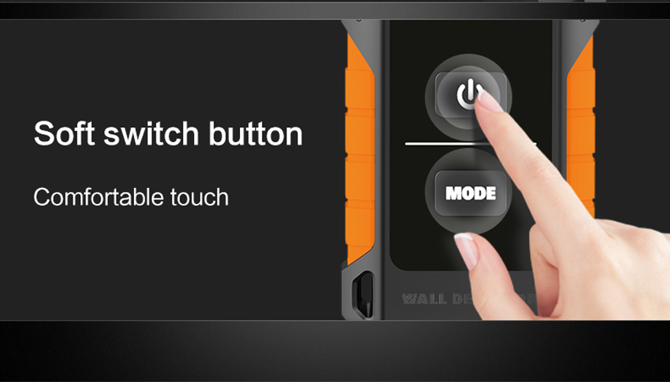 Works wall detector soft switch