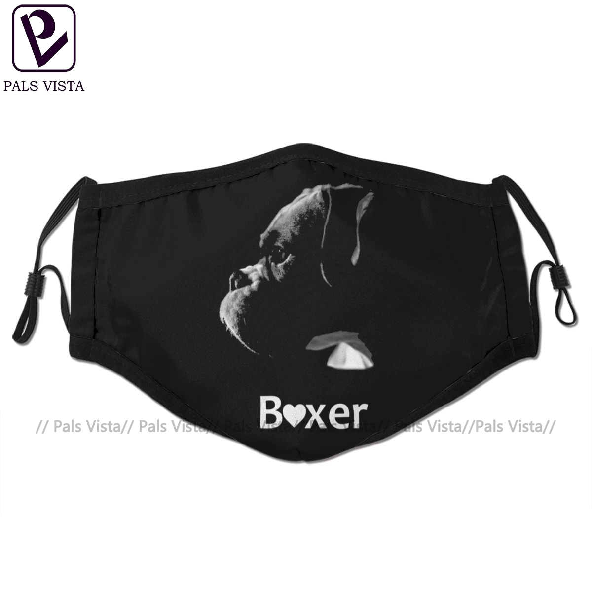 Boxer Dog Mouth Face Mask Boxer Love Facial Mask Fashion Funny With 2 Filters For Adult