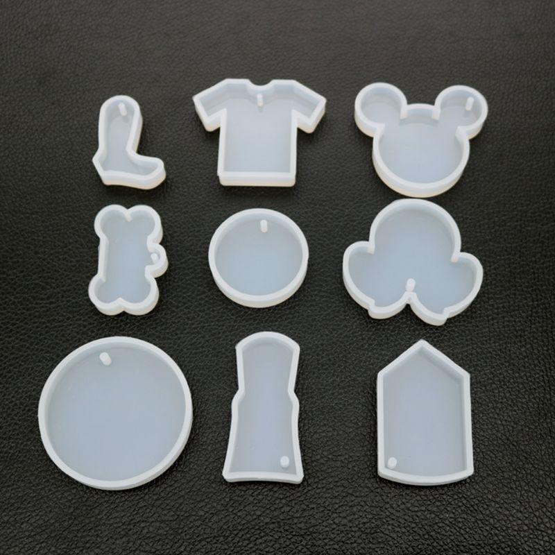 UV Resin Decorative Crafts Mold DIY Pendant Key Chain Making Crystal Epoxy Molds