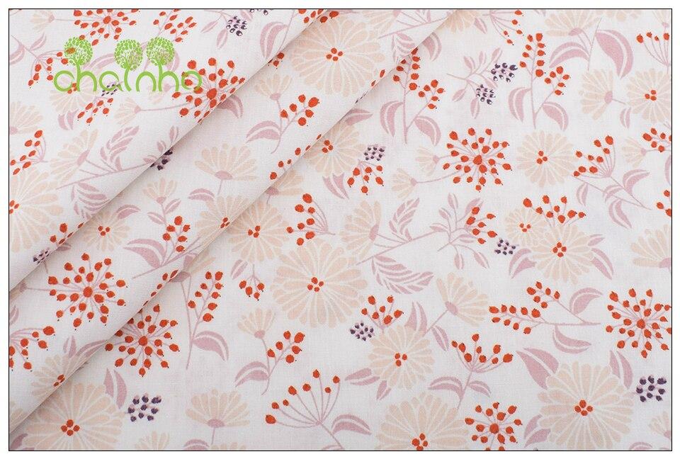 lapin SOLDES-Tissu Paquet 3x 25 X 140 de coton fleurs points