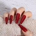 30 шт., накладные ногти в гробе, съемные носимые искусственные ногти балерины, накладные ногти с полным покрытием, накладные ногти, инструмен...