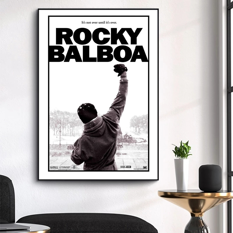 Film kayalık posterler ve baskılar boks kral tuval resimleri duvar sanatı motivasyon resimleri için oturma odası ev dekor Cuadros