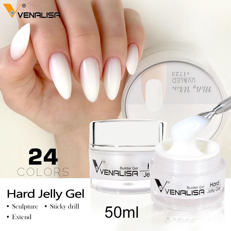 50ml /15 Ml VENALISA Nail Art French Nail DIY Poly Gel Clear Camouflage Color Fibre Glass Hard Jelly Builder Nail Extend Gel
