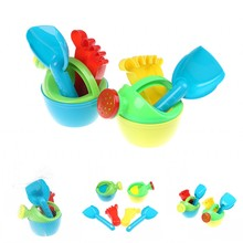 New 3Pcs Set Plastic Summer Beach Footprint Kettle Shower Toy Bathroom Water Spray Play Toys for Baby Shower Swimming Kids Gift