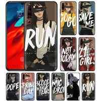 Laufen Kpop Mädchen Fall für Lenovo Z6 Pro 5G Jugend Lite Schwarz Silikon Tasche Telefon Abdeckung Z6Lite Z6Youth Z6Pro5G weiche Casos