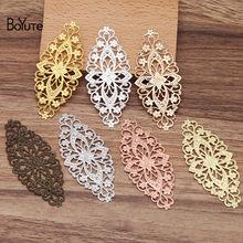 Boyute (10 peças/lote) metal bronze carimbar 35*80mm filigrana flor achados diy feito à mão bookmark jóias materiais