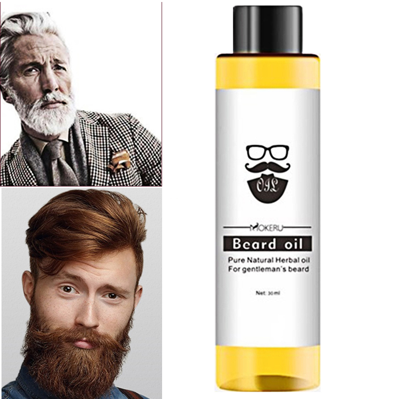 1 pc 30ml Mokeru 100% Organic Beard Oil Hai…