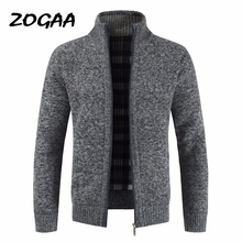 ZOGAA Autumn Thick Fashion Business Casual Sweater Cardigan Men Brand Slim Fit Knitwear Outwear Warm Winter Jumper