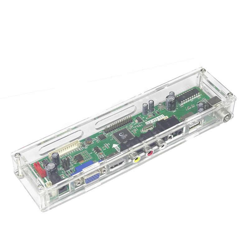 LED/LCD Display Controller Papan Transparan Plastik Pelindung Case untuk KAMI TV/M. NT68676/EDP/2AV Controller Driver Papan Utama