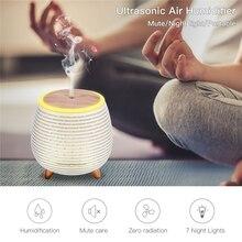Ultrasonik hava nemlendirici USB aromaterapi difüzör yatak odası hava temizleyici nem Mini uçucu yağ difüzör ile gece ışıkları