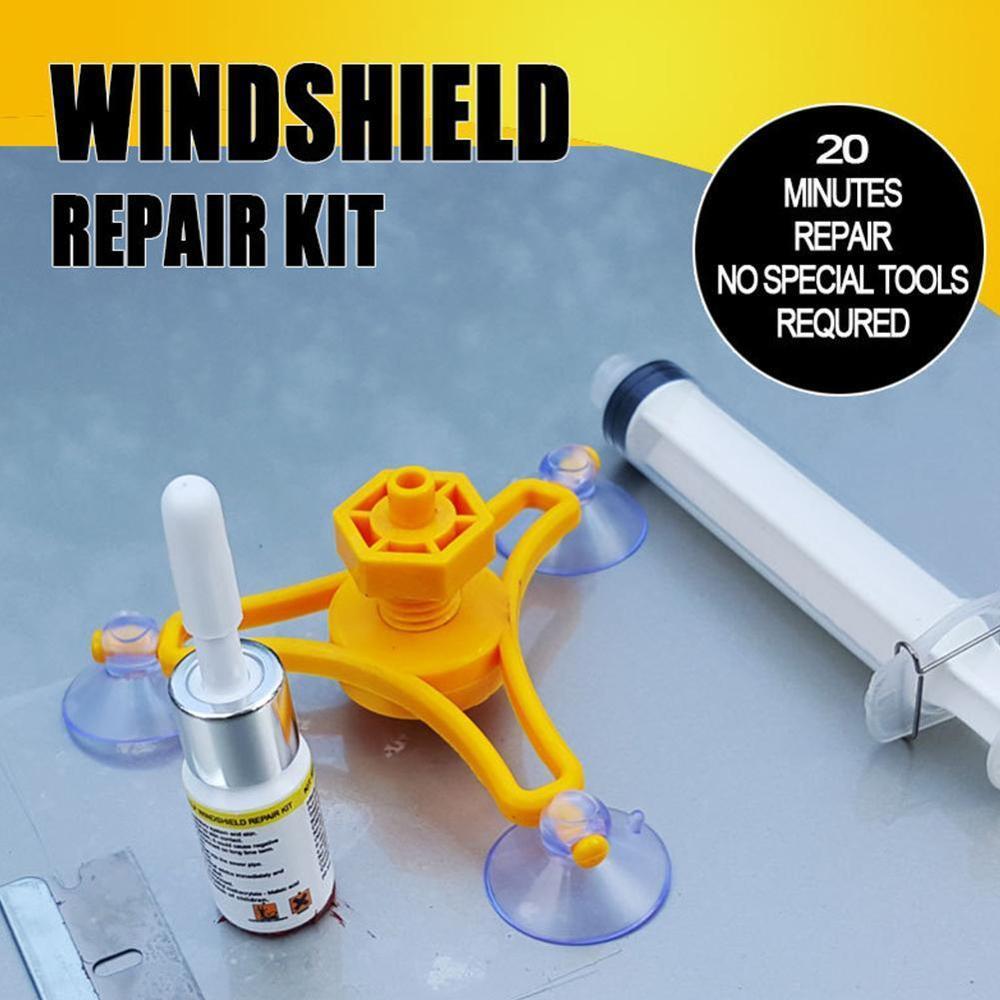 Universal Vehicle Windscreen Windshield Repair Resin Tool Glass Crack Repair Kit Quick Fix Car Glass Kit Syringes Professional