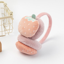 Earmuffs Fluffy Headband Warm Winter Cute Soft Fleece Fruits Faux-Ear Kids Kawaii-Girl-Boy