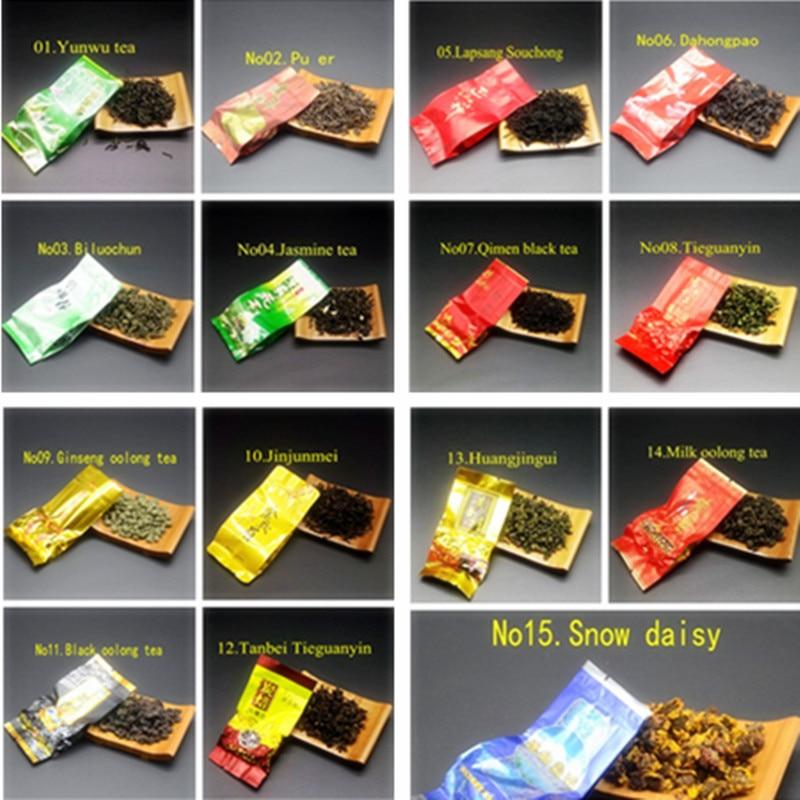 16 Different Flavors Chinese Tea Includes Milk Oolong Pu-erh Herbal Flower Black Green Tea 1