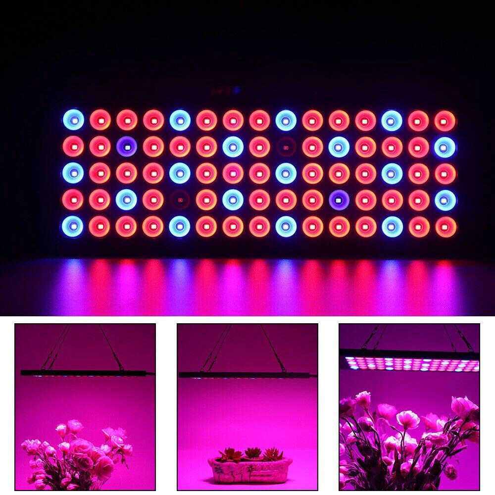 2X 600W LED Grow Light Full Spectrum For Indoor Hydro Veg Flower Panel Lamp USA