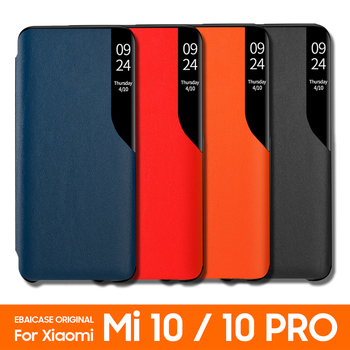 For Xiaomi Mi 10 Pro 5g Case Clear Half Window Case FAYAHS Original Mirror Smart View Leather shockproof Flip Cover