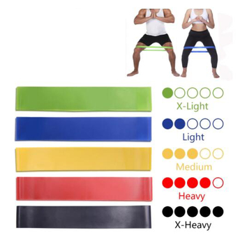 5 Colors Yoga Resistance Rubber Bands Indoor Outdoor Fitness Equipment 0.35mm-1.1mm Pilates Sport Training Workout Elastic Bands image