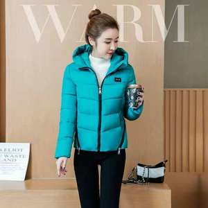 Image 5 - Winter Parka Jacket Women Short Coat Down Cotton Female Warm Thick Clothing Autumn Outerwear Quilted Fall Sport Hooded Zipper