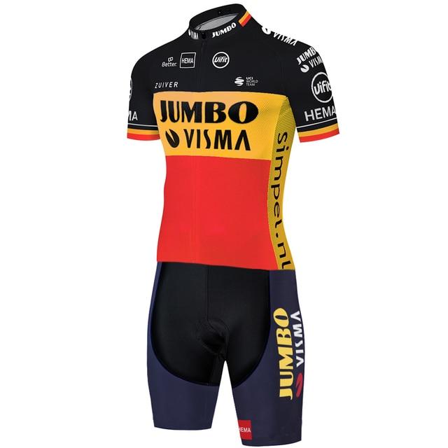 2020 equipe jumbo visma ciclismo skinsuit verão ao ar livre roupas de bicicleta triathlon uniforme 20d gel bodysuit 4