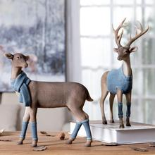 Nordic Resin Deer Model Figurines Home Decoration Accessories For Living Room Modern Elk Office Desk Decor Wedding Friends Gifts недорого