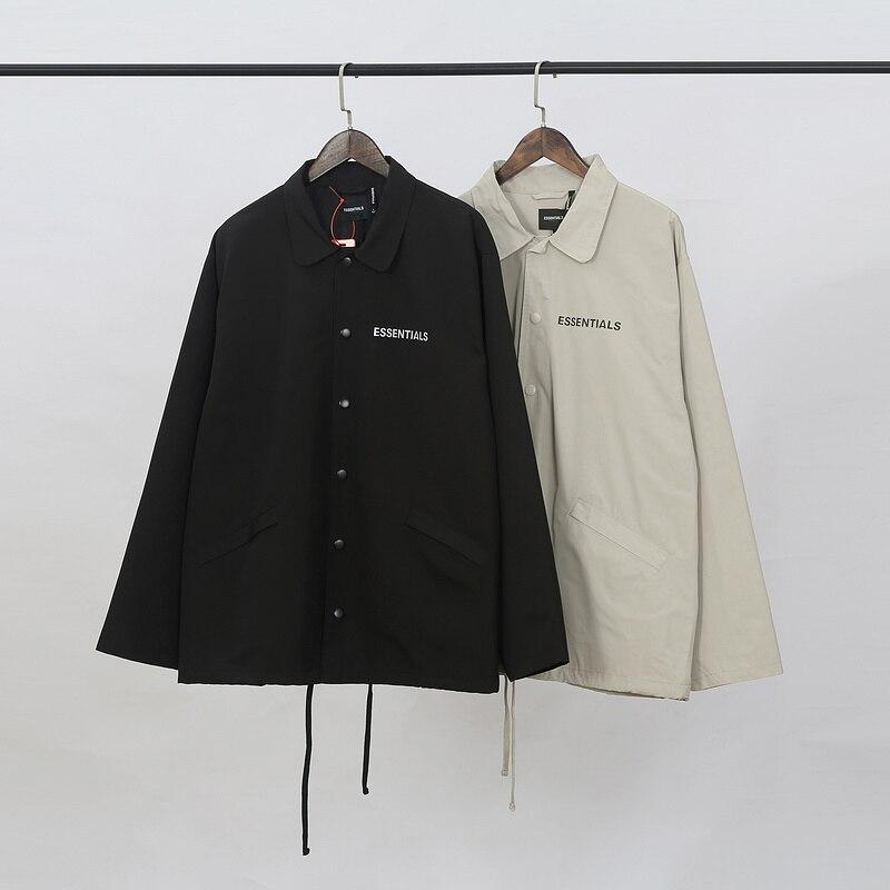 2019 FG Essentials 3M Reflection Logo Printed Women Men Jacket Windbreaker Hiphop Streetwear Men Casual Jacket Coat