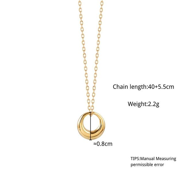 ANENJERY 2020 New Arrivals Geometric Round Circle Clavicle Chain Necklace For Women Best Gifts Jewelry Wholesale S-N645