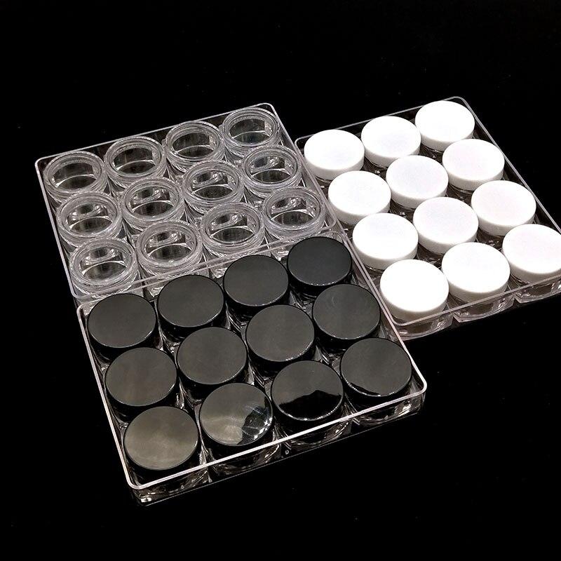 5g Mini Clear Plastic Square Jar Cosmetic Sample Travel Cream Cream Eye Cream Filling Container Storage Box 12pcs/ Pack