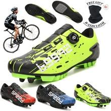Venda quente ultraleve auto-bloqueio sapatos de bicicleta profissional mtb ciclismo sapatos spd pedal de corrida de estrada sapatos de bicicleta unisex