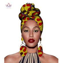 Африканский головной убор с принтом Анкара воск ткань шарф из чистого хлопка kente шарфы Дашики печать для женщин леди wyb56