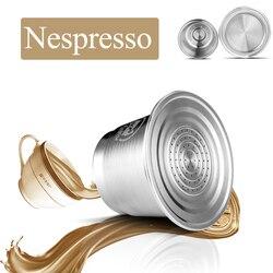 Cápsula de café de aço inoxidável nespresso reutilizável recarregável filtro copo espresso para máquina de café ferramenta cozinha adulteração