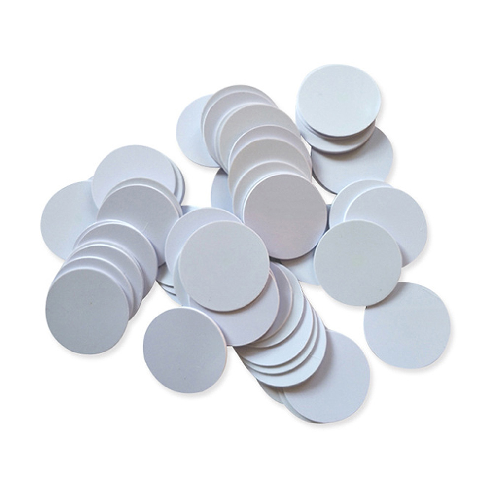 (1000PCS/LOT) Tk4100 (EM4100) Read-only RFID Smart ID 125khz Tags Read-only Waterproof 25mmx1mm PVS Cards Coin In Access Control