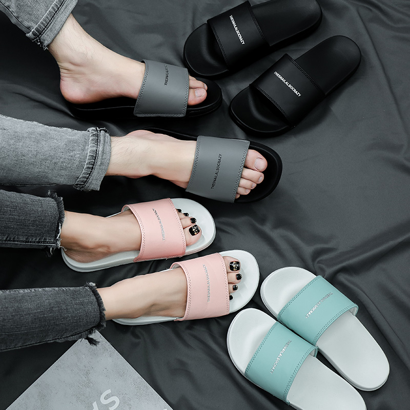 Fashion Summer Slides Women Slippers Non-slip Couple Beach Slides Flip Flops Eva Outdoor Slide Sandals Women Men Lovers Shoes