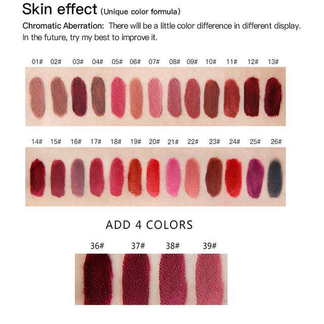 Waterproof Liquid Gloss Matte Lipstick.