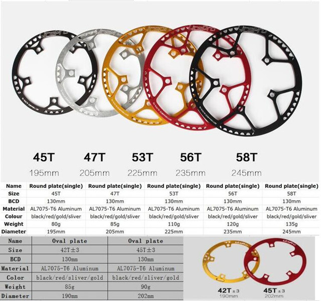 Litepro Bicycle Crankset Integrated 45T 47T 53T 56T 58T BCD 130mm Single Crankset Crank For Folding Bike Bicycle Parts