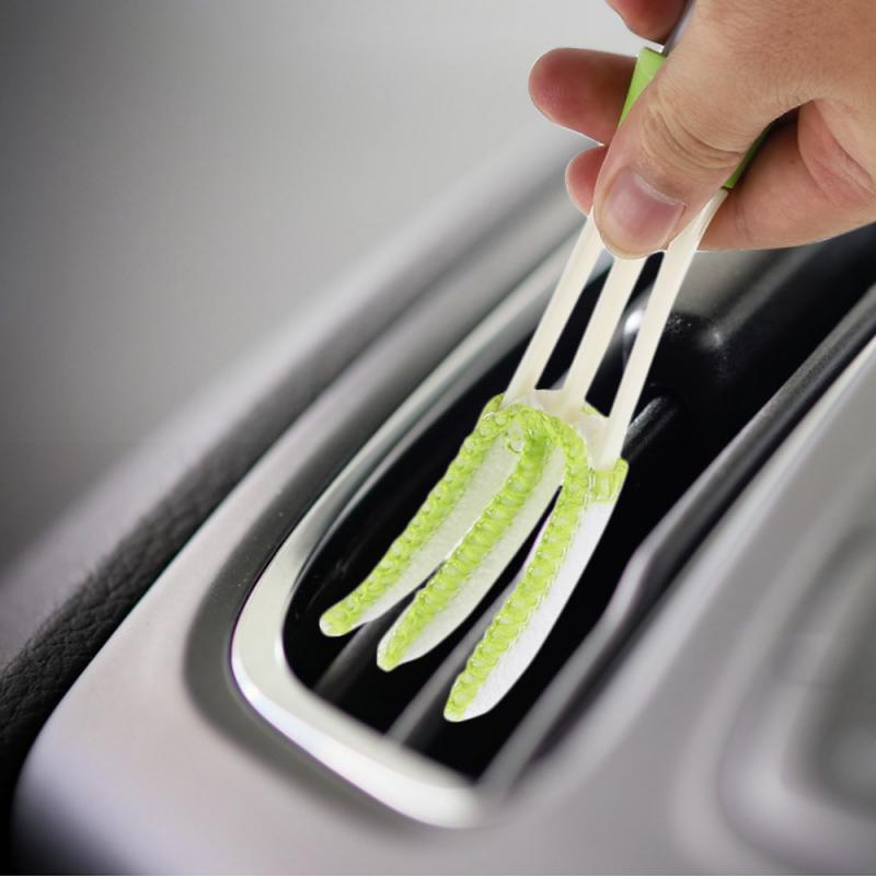 1Pcs  Car Brush Great Quality Plastic  Car Air Outlet Vent Dashboard Dust Cleaner Cleaning Brush Tool  Car Cleaner Car Washer