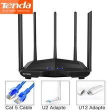 Tenda AC11 Gigabit çift bantlı AC1200 kablosuz Wifi yönlendirici WIFI tekrarlayıcı 5 * 6dBi yüksek kazançlı antenler AC10 geniş kapsama kolay kurulum